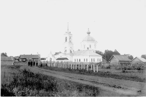 Никольская церковь со сторожкой с.Тоншаево 1910г