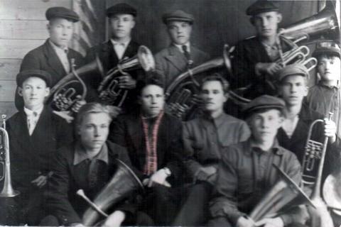 Духовой оркестр Тоншаевского РДК. 1941 год