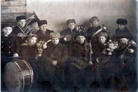 Духовой оркестр села Тоншаево 1948 год